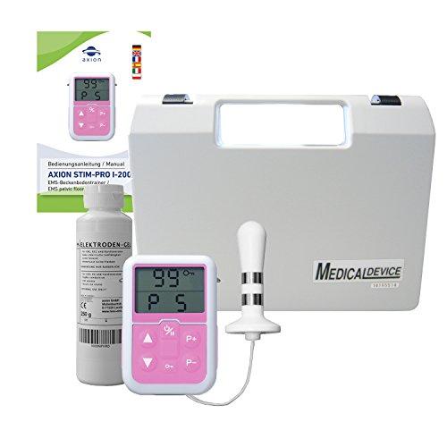 Appareil d'électrostimulation rééducation périnée - Set avec électrostimulateur + sonde anale + gel lubrifiant - Traitement de l'incontinence, massage de la prostate