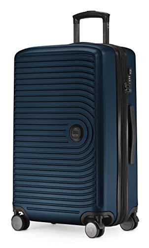 HAUPTSTADTKOFFER - Mitte - Mittelgroßer Hartschalenkoffer, Check-In Gepäck mit 8 cm Volumenerweiterung, TSA, 4 gummierte Doppelrollen, 68 cm, 88 L, Dunkelblau