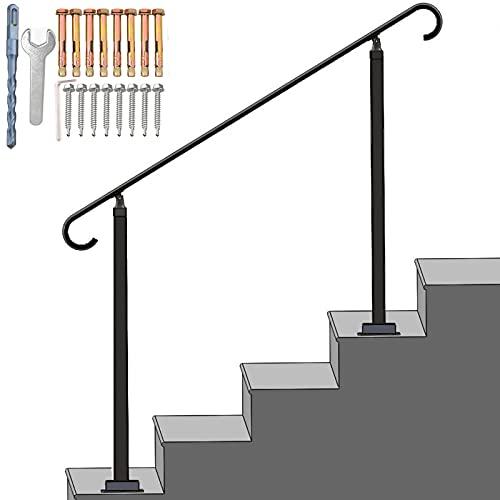 SPACEUP Metal Outdoor Stair Railing 38