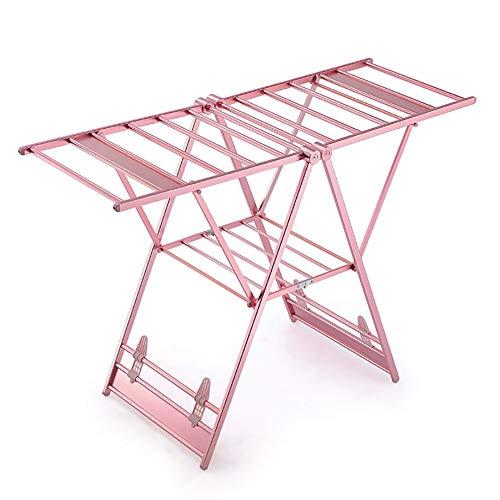 SJZC Bodenstehendes Trockengestell Balkon Schaufelblatt Trockengestell Falten Aufhänger Aluminiumlegierung Aufhänger,Rose
