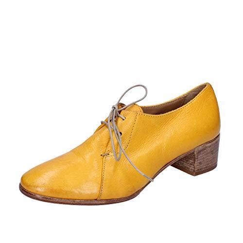MOMA Elegante Schuhe Damen Leder gelb 37 EU