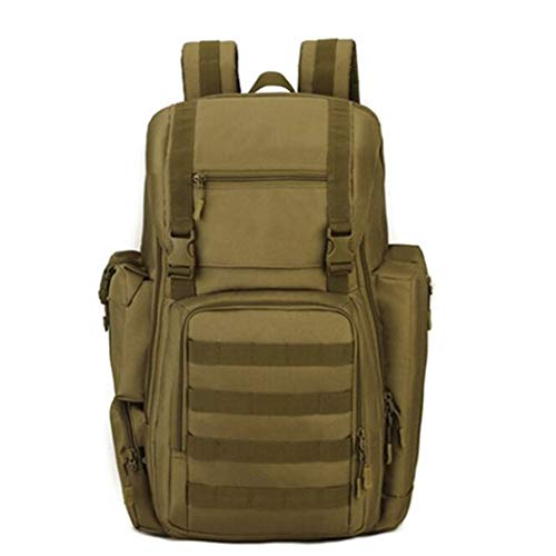 Zaino tattico militare Grande esercito Assalto Pack Bag impermeabile Zaini ESTERNO Escursionismo Camping Hunting Wolf brown 30-40L