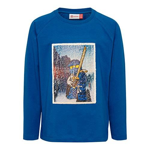 Lego Wear Jungen LWTIGER 652-T-SHIRT L/S Langarmshirt, Blau (Blue 553), (Herstellergröße: 140)