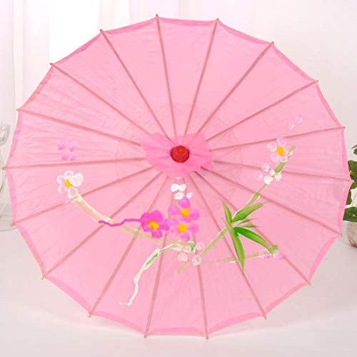 SHENAISHIREN Kinder-Schirme mit Winddichtes, UV-Schutz, Tanzen Props Sonnenschirm, Geeignet for Schatten Ausgehen (Color : A)