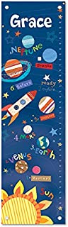 Personalized Growth Chart Ruler Outer Space Nursery Décor