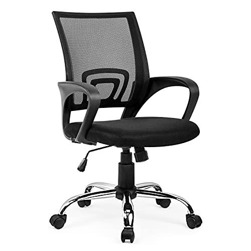 Amazon Brand - Umi Bürostuhl Schreibtischstuhl Ergonomisch Drehstuhl Mesh Höhenverstellbar Belastbar bis 275LB