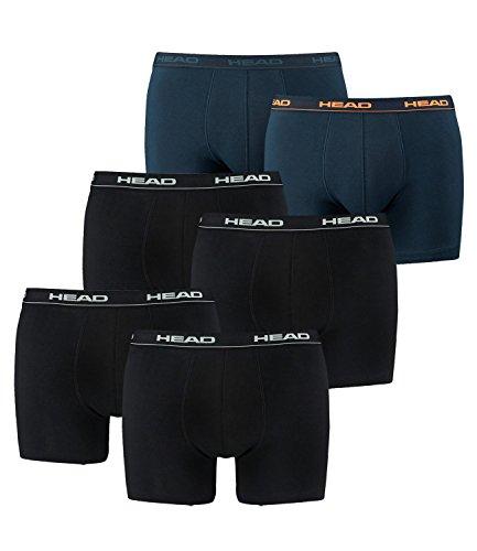 Head Herren Boxershort mehrfarbig 2x2er Black / 1x2er Peacoat/Orange/Navy Large