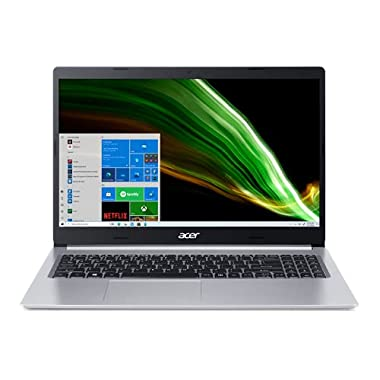 Acer Aspire 5 A515-45-R1YC Slim Laptop | 15.6″ Full HD IPS | AMD Ryzen 5 5500U Hexa-Core Mobile Processor | 8GB DDR4 | 256GB NVMe SSD | WiFi 6 | Backlit KB | Windows 10 Home