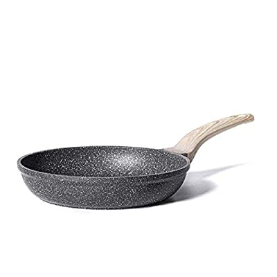 Carote Essetial Woody- Frying Pan PFOA Free NonStick Coating From Switzerland, Bakelite Handle With Wood Effect- Soft Touch