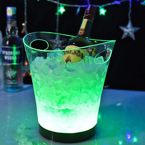 Portaghiaccio Secchiello for ghiaccio a LED 5 litri di secchiello for il ghiaccio luminoso Secchiello for champagne Birra Secchiello for ghiaccio Champagne Bevande for vino Secchiello for birra for KT