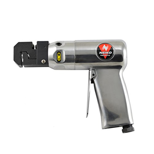 Neiko 30091A Pneumatic Hole Punch and Flange Crimp Joggler Tool, Pistol Grip | 1/4