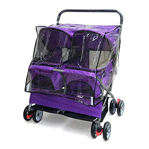ZHRLQ Zweisitzer-Kinderwagen, Ultraleichtes, Faltbares, Herausnehmbares Und Waschbares Doppelbett-Bettwagen, Katzen- Und Hundewagen