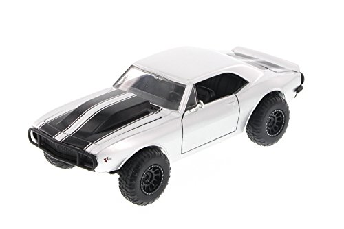 Jada Toys Fast & Furious Roman's Chevy Camaro Off Road, Silver 97169 - 1/24 Scale Diecast Model Toy Car, but NO Box