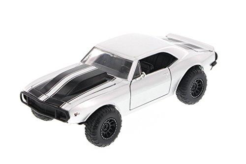 Fast & Furious Romano de Chevy Camaro Off Road, Plata – Jada Toys 97169 – 1/24 Escala Diecast Modelo Toy Car