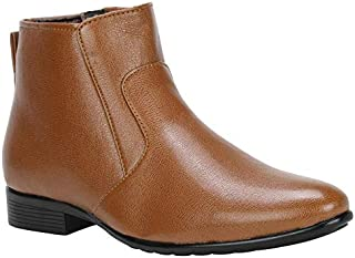 VINCENZO Men's Leather Ankle Boots