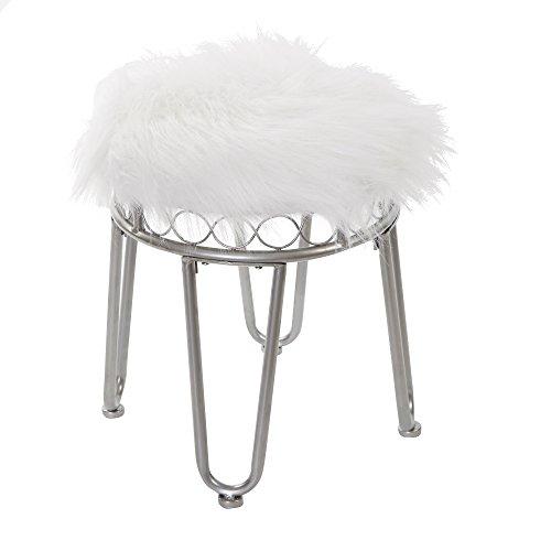 SilverwoodHannah Vanity Stool with Hairpin Legs