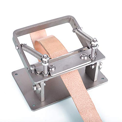 Leather Paring Machine, Kecheer Stainless Steel Manual Leather Thinning Machine, DIY Craft Cutting Peeler Tools Hand Leather Scraper Leather Shovel Tool Skiving Thinner Machine