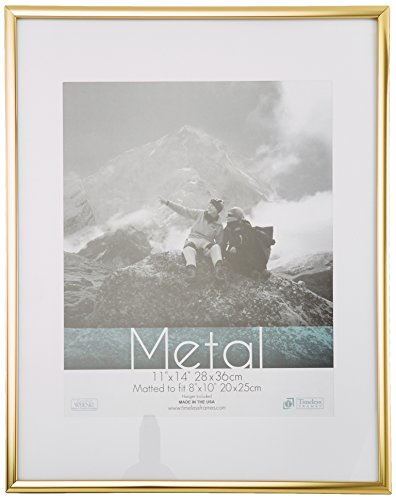Thin Metal Matted Gallery Frame Gold