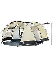 CampFeuer Tienda de Campaña Familiar Super+ I 4 Personas I Columna de Agua 3.000 mm I Impermeable I Ultraligera