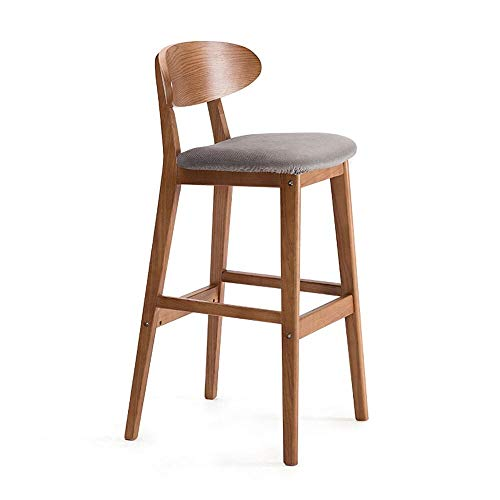 Q Barkrukken massief hout hoge kruk, keuken stoelen, bar stoel, met rugleuning, retro, 38 inch, Size, C