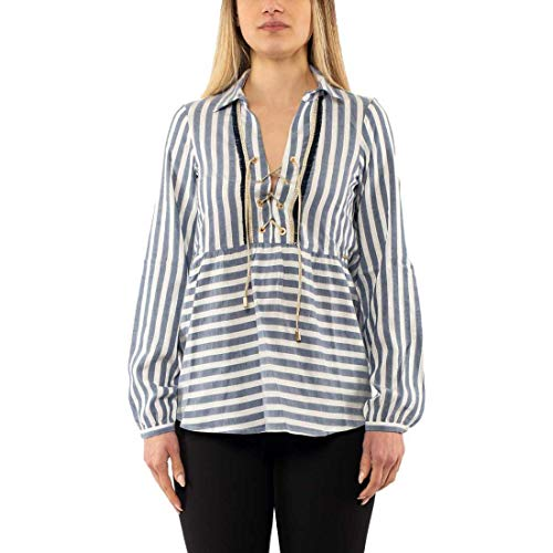 La Martina WOMAN STRIPE BLOUSE DONNA - 2, BLU
