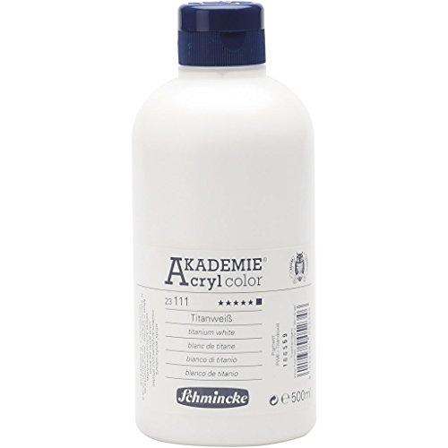 Schmincke AKADEMIE® Acrylfarbe, Titanweiß (111), blickdicht, extrem lichtbeständig, 500ml