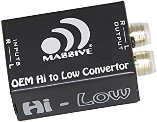 Massive Audio Hi-Low - Car Audio High Level Speaker Signal to Low Level RCA Converter, High to Low Level Signal