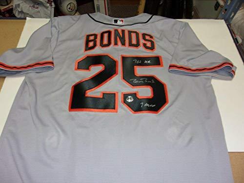 Barry Bonds Sanfrancisco Giants,762 Hr,7x Mvp Grey Bonds/holo Signed Jersey - Autographed MLB Jerseys