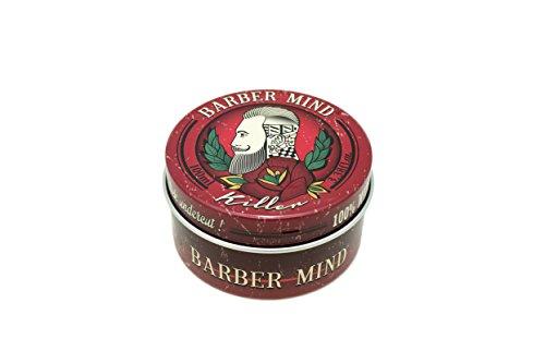 Barber Mind Pomade Killer - die Pomade vom Kult-Barbershop aus Italien - extrem starker Halt, cooler Glanz, mit japanischem Samurai-Öl