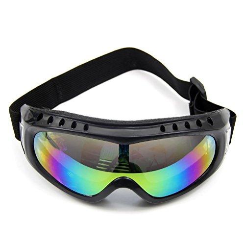 wivarra Gafas de Proteccion de Borde Negro de Esqui de Seguridad Revestido de Colores Gafas de a Prueba de Polvo de Deporte al Aire Libre Gafas (Colorido)