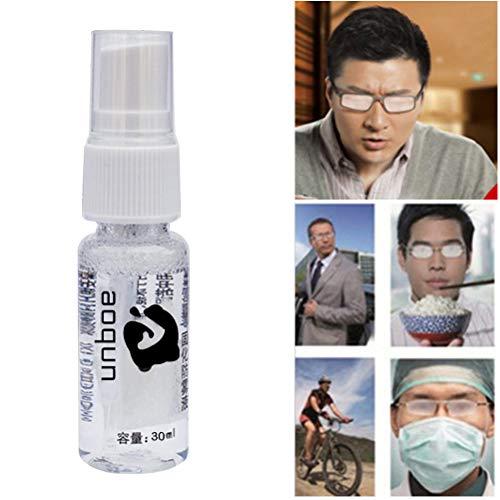 Antibeschlagsmittel, Antibeschlag Spray, Anti-Fog Spray Linsenreiniger Universell Einsetzbar für Brillen, Skibrillen, Sportbrillen, Taucherbrillen, Autoscheiben, 30ml