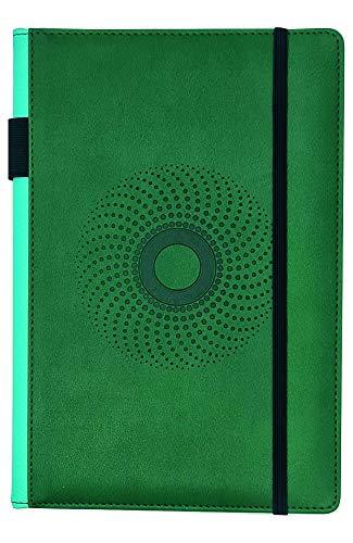 EJRange A5-Notizbücher, liniert, abwischbar, PU-Leder, weiches Gefühl, Stifthalter, Schleife, linierter Notizblock, Planer, 192 Seiten (dunkelgrün)