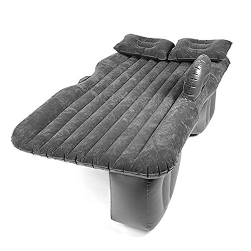 KTZAJO Colchón inflable de aire automotriz, cama de viaje, sofá, camping, asiento trasero, cojín de descanso con bomba universal (nombre del color: beige)