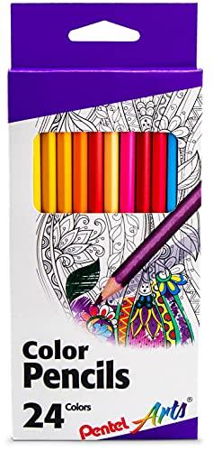 Pentel Crayons de Couleur en Bois 24 kg
