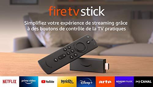 Fire TV Stick avec télécommande vocale Alexa (avec boutons de contrôle de la TV), Streaming HD, Modèle 2020
