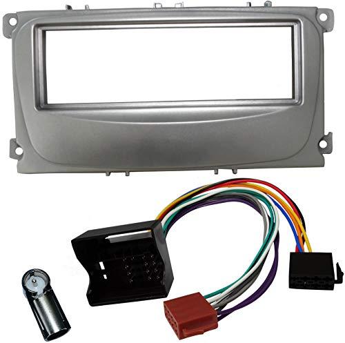 AERZETIX – Kit de Montage d'Autoradio Standard 1 DIN - Façade, faisceau et adaptateurs d'antenne - C4507A