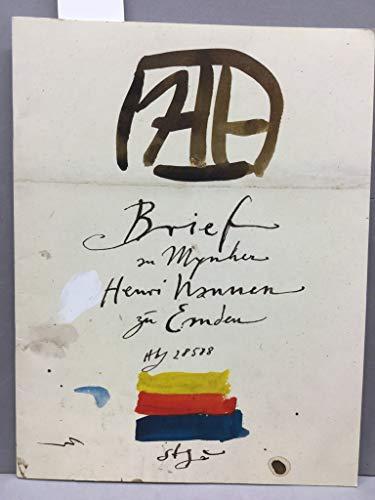 Brief an Mynher Henri Nannen zu Emden. Kunsthalle Emden: Horst Janssen - Zeichnungen, Aquarelle, Gouachen, Radierungen und Lithographien von 10. Juli - 04. September 1988. Mit 1 orig. Radierungen mit Signatur.