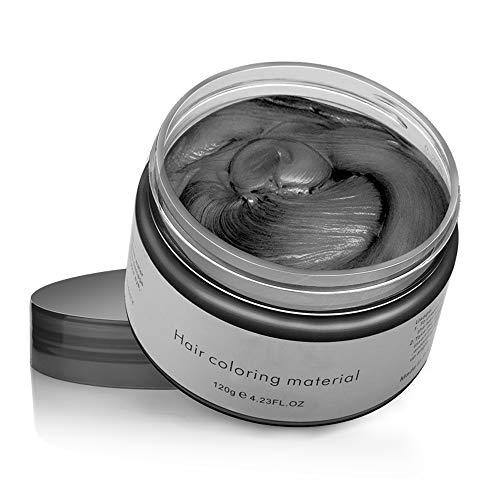 Cera Capelli Crema Colorante per Capelli Colore, Hair Color Wax Temporaneo Modellante Lunga Durata per DIY Colorare e Modellare(120g)- Nero