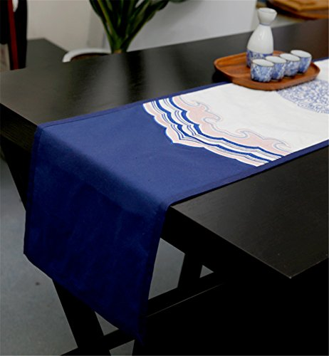 Sucastle® 32x190cm coton chanvre Chemin de Table Cuisine Imperméable Décoration en Aspect naturel