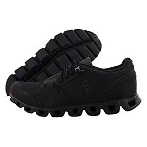 ON Running Womens Cloud Textile Synthetic Trainers (7, All Black)