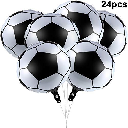 Gejoy 24 Stücke 18 Zoll Fußball Folien Ballons Metallische Mylar Fußball Ballons für Geburtstag Party Sport Abschlussfeier Dekoration