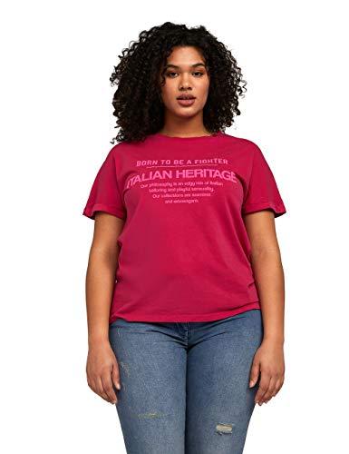 Fiorella Rubino : T-Shirt con Scritte Rosa L Donna (Plus Size)