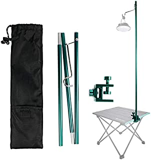 AKDSteel Outdoor Portable Folding Lamp Pole Aluminum Alloy Hiking Camping Ultralight Tent Lantern Fixing Stand Light Holde...