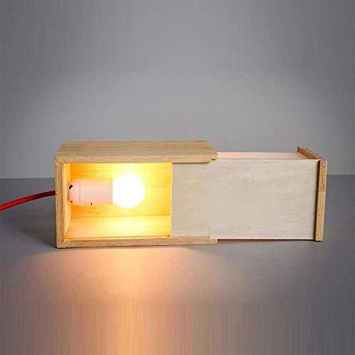 Luce Plafoniera Accesorios de iluminación Europeo Moderno Caja de madera Sala de estar Mesa Luz Cuadrado Acrílico Caso Cajón Dormitorio Oficina Lámpara de mesa Sala de estudio Escritorio