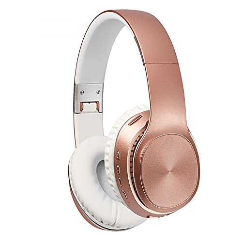 Auriculares Bluetooth para colocar sobre la oreja, SIQI Auriculares estéreo con cable e inalámbricos plegables SD / TF, FM para teléfonos / almohadilla / PC, orejeras cómodas y peso ligero para un uso