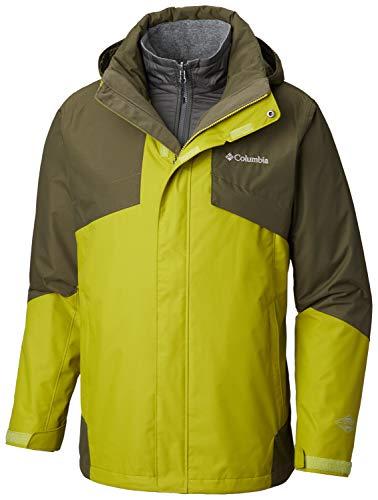 Columbia Men's Standard Bugaboo II Fleece Interchange Jacket, Python Green/Peatmoss, Medium