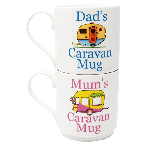 MUM'S & DAD'S CARAVAN FINE CHINA MUGS