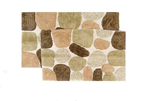 Chesapeake Pebbles 2Pc. Khaki Bath Rug Set 26650 (21'x34' & 24'x40')