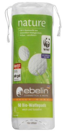 Ebelin Nature Bio-Wattepads, 5er Pack (5 x 60 Stück)