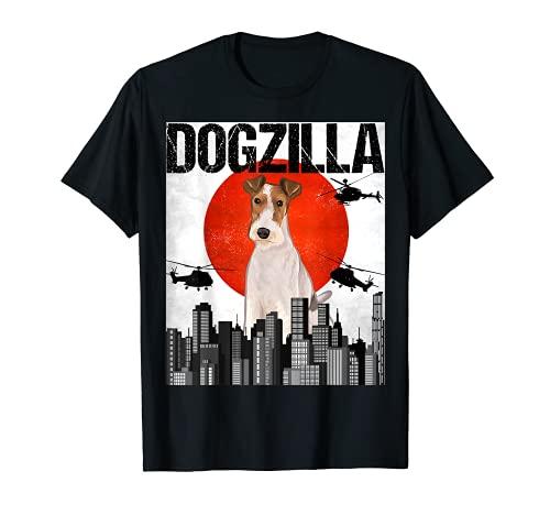 Retro Perrozilla Dogzilla Japonés Fox Terrier De Pelo Duro Camiseta